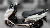 Suzuki Burgman Street spied at showroom left side profile