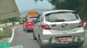 Tata Tiago JTP rear three quarters left side spy shot