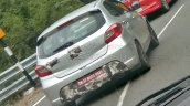 Tata Tiago JTP rear three quarters right side spy shot