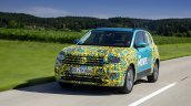 VW T-Cross prototype action shot front
