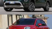 2019 fiat 500x vs 2015 fiat 500x front three quart ee93