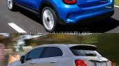 2019 fiat 500x vs 2015 fiat 500x rear three quarte 4347
