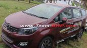 mahindra marazzo mpv front three quarters wine red 5f9d