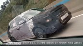 Hyunda A-CUV front three quarters dynamic spy shot