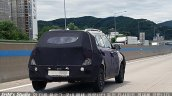 Hyunda A-CUV rear three quarters spy shot