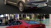 Hyundai Elantra Old vs New Comparison Rear Three Quarters image