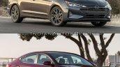 Hyundai Elantra Old vs New Comparison Front Three Quarters image