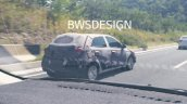 Hyundai i20 rear three quarters spy shot South Korea