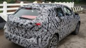 Indian-spec Nissan Kicks rear three quarters spy shot