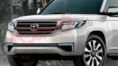 Next-gen Toyota Land Cruiser front fascia rendering