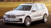 Production BMW X7 front three quarters rendering