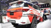 Rally-spec Toyota Fortuner rear three quarters at GIIAS 2018