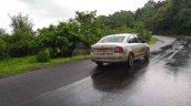 Skoda Rapid 1.0 TSI rear three quarters spy shot India