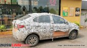 Updated Tata Tigor rear three quarters spy shot