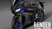 Yamaha R25 Yamaha R3 Facelift rendering image Black and blue