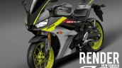 Yamaha R25 Yamaha R3 Facelift rendering image black and yellow