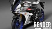 Yamaha R25 Yamaha R3 Facelift rendering image white