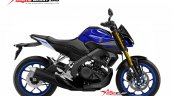 Yamaha Xabre 150 Yamaha M-Slaz MT-15 Facelift Rendering - Blue