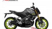 Yamaha Xabre 150 Yamaha M-Slaz MT-15 Facelift Rendering - Grey