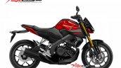Yamaha Xabre 150 Yamaha M-Slaz MT-15 Facelift Rendering - Red