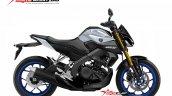Yamaha Xabre 150 Yamaha M-Slaz MT-15 Facelift Rendering - White