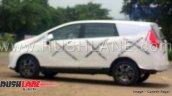 mahindra marazzo mpv side profile shark led taillight alloy wheels spy image