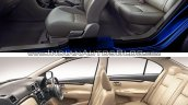 maruti ciaz old vs new comparison interior cabin space seats dashboard image