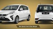 New Perodua Alza Facelift Exterior