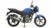 Bajaj Discover 125 St R Blue Side Profile