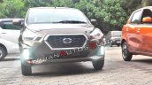 2018 Datsun Go Facelift Front Spy Shot India