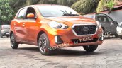 2018 Datsun Go Facelift Front Three Quarters Spy S