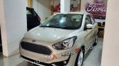 Ford Aspire Facelift Front Angle White Gold
