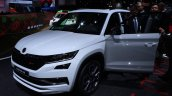 Skoda Kodiaq Rs At Paris Motor Show Left Front Qua