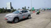 Tata Harrier Spy Image Front Three Quarters