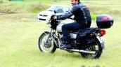 Silver Yamaha Rd350 By Vishal Agarwal Left Rear Qu