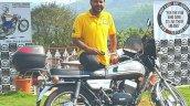 Silver Yamaha Rd350 By Vishal Agarwal Right Side 1