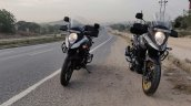 Suzuki V Strom 650 Xt Review Still Shots Yellow An