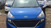 Hyundai Santro Blue Spied Ahead Of Launch Front