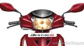 Hero Destini Launched In India Headlight