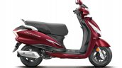 Hero Destini Launched In India Noble Red Right Sid