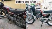 Kawasaki Bajaj 125 Rtz Restored By Vivek Before An