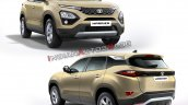 Tata Harrier Colours Gold