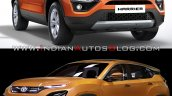Tata Harrier Vs Tata H5x Front Three Quarters