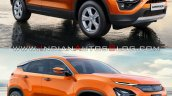 Tata Harrier Vs Tata H5x Front Three Quarters Righ