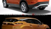 Tata Harrier Vs Tata H5x Rear Three Quarters