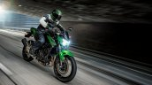 Kawasaki Z400 Dynamic Front Quarter Press Image