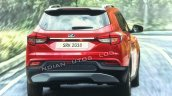 Mahindra S201 Rear Three Quarters Rendering