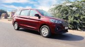 2019 Maruti Ertiga Review Images Front Three Quart
