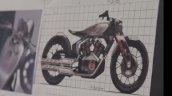 Royal Enfield Kx Bobber Concept Sketch