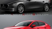 2019 Mazda3 Sedan Vs 2016 Mazda3 Sedan Front Three